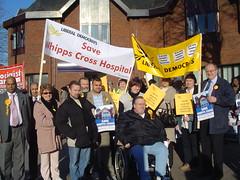 Lib Dem marchers reach Walthamstow Town Square