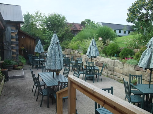 Patio Dining Area at the Inn at Cedar Falls