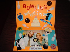 interior of card for chris and christine's wedding