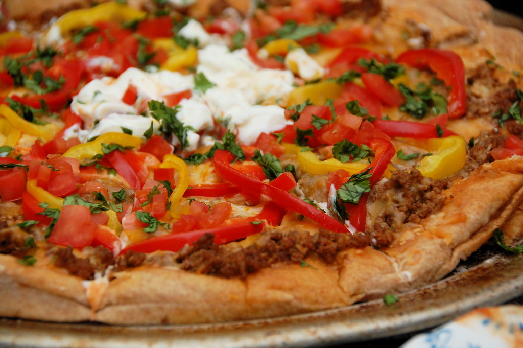 a taco pizza