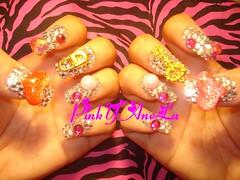 Kira Kira Nails (Pinky Anela) Tags: japanese tokyo hellokitty nail kawaii bling deco sparkly nailart pinkyanela