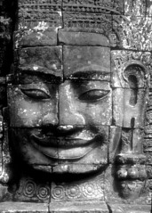 Face From Angkor (vincenzooli) Tags: cambodia khmer kodachrome angkor lpdamaged