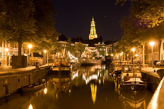 Groningen, the Netherlands (Bert Kaufmann) Tags: city holland reflection water netherlands night reflections boats boot boat town canal eau ship nightshot nacht ships nederland boten stadt nightview nl groningen nuit paysbas stad olanda niederlande gracht reflectie schip schepen nachtfoto nachtshot anawesomeshot