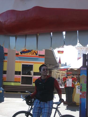 In front of Luna Park