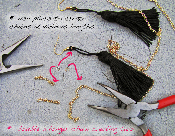 3-Step2-Chain-Tassel-Earrings