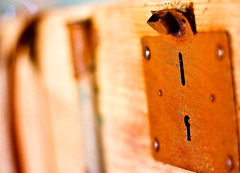 Old coffer's lock