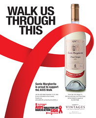 Cause Marketing Ad for Santa Margherita Wine in support of the AIDS Walk 2009 (Public Image Design) Tags: magazine print advertising design marketing graphicdesign italian aids graphic wine image walk ad creative advertisement advert donation brand vino cause walkathon pinotgrigio santamargherita publicimagedesign