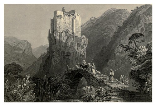 004-Castillo gotico en un valle cerca de Batroun-Syria, the Holy Land, Asia Minor, etc 1840- Bartlett W. H