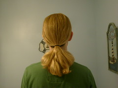 Boy With a Long Blonde Ponytail