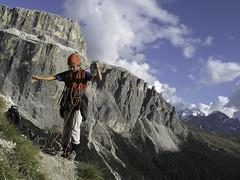 Etienne al Piz Ciavazes - Climbing in Dolomiti