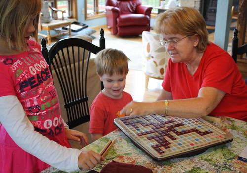 Scrabble trio