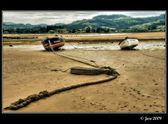 Amarre (Josepargil) Tags: mar asturias playa arena barcas ria amarre elpuntal
