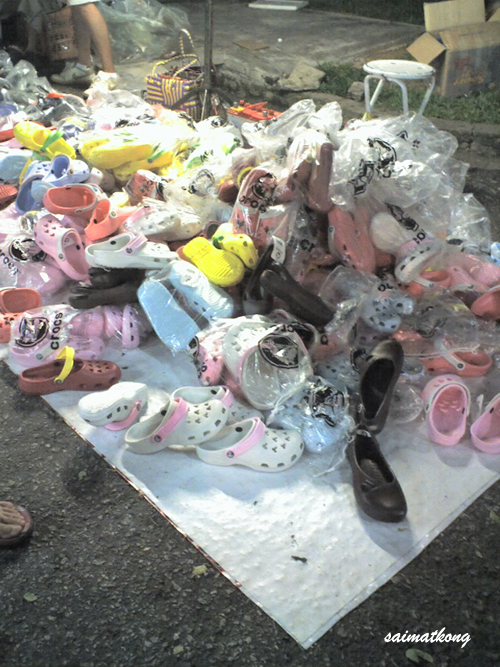 Original / Fake Made in China Crocs selling @ Pasar Malam