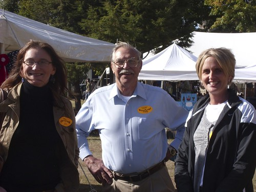 Essex Co., NY candidates at Field. Forest, & Stream in Elizabethtown: Julie Garcia (incumbent DA - D), Henry Hommes (incumbent Sheriff - R) , & Kristy Sprague (DA - R)