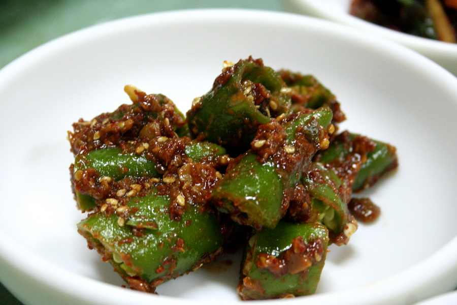 Chilli pepper in soy-bean paste and pepper