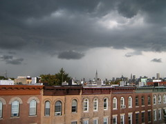 Dark skies over NYC (yankeesmann1918) Tags: nyc cloud skyline thunderstorm cumulonimbus