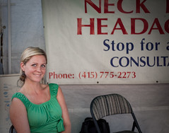 Call Me If You Got Headache (flopper) Tags: sanfrancisco woman beautiful call message doctor headache neckpain