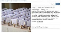 Real Weddings Feature screenshot of DIY pocket escort cards, click to enlarge