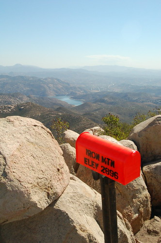 A mailbox at the summit of San Diego's Iron Mountain