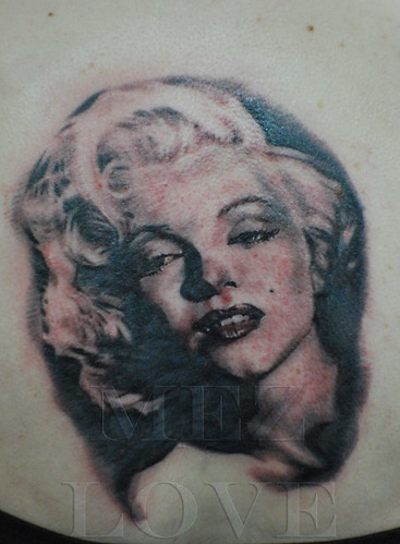 Marilyn Monroe Tattoo Portrait Marilyn Monroe Image by Mez Love