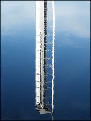 Millennium Tower Reflection (Ben.Allison36) Tags: uk reflection tower scotland riverclyde glasgow millennium finepix broomielaw tradeston s8100fd
