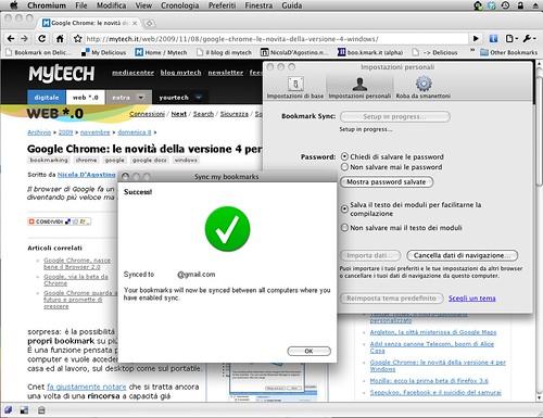 Mac Chromium 4.0.246.0 (31808) - sync bookmarks - Success!