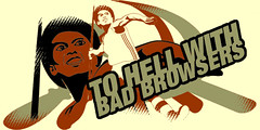 To Hell With Bad Browsers (Jeffrey) Tags: life zine art history illustration digital magazine studio design early blog code graphics designer web events roots illustrations content images webdesign story header agency ala article ia developers online designs historical title interactive strategic articles publishing biography mylife html ux 1990s headers partners titles titleimages interaction designers artdirection webdevelopment userexperience zeldman jeffreyzeldman webcontent happycog inthebeginning ezine coders periodical outofthepast 19952005 alistapart webdevelopers shonuff webdesigners headings mylifeinpictures webpublishing contentstrategy forpeoplewhomakewebsites alistapartcom publshers webevents tohellwithbadbrowsers