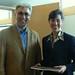 NWT Premier Floyd Roland and Consul General Lochman in Yellowknife