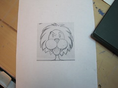 scaled lion sketch