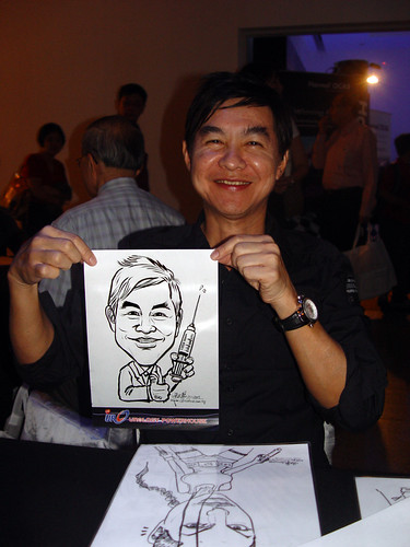 Caricature live sketching for GSK Urology Powerhouse -2