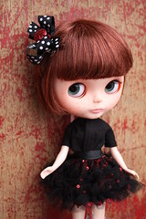 Ruby models my custom hair bows