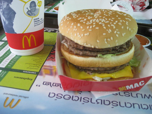 So we tried McDonald's in Thailand, Swiss got a DOUBLE Big Mac!!