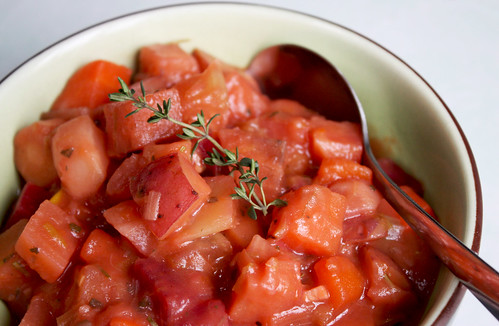 Roasted Root Vegetable Stew