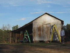 Setting up the Christmas barn shots - time lapse (fsmphoto) Tags: barn timelapse northcarolina franklincounty settingupashot