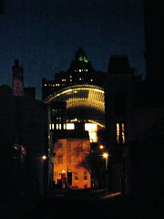 The Drake and Kimmel Center, evening (moocatmoocat) Tags: philadelphia architecture night buildings evening alley center drake kimmel