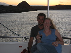 Me and Rach - near Islas Plazas - Seaman II - Galapagos Islands (Roubicek) Tags: vacation holiday ecuador honeymoon galapagos rach equador seaman galapagosislands seaman2 seamanii