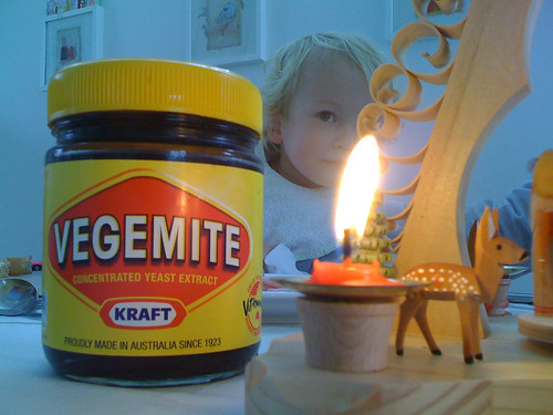 Big Vegemite and little deer