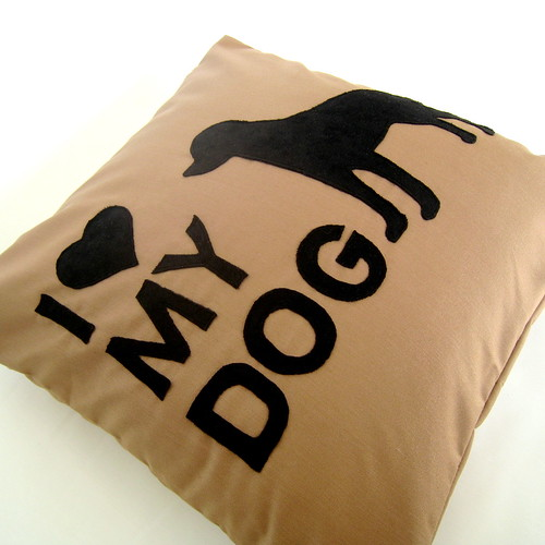 I Love My Dog Pillow - Personalized with your Dog Breed