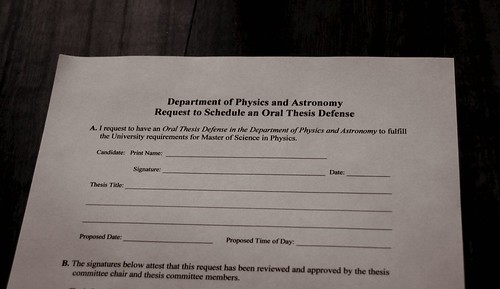 Thesis Defense paperwork