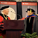 Chancellor Randy Woodson (left) congratulates Robert Weiss, artistic director and CEO of Carolina Ballet, on his honorary degree.