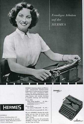 Du 1954-04 Hermes 2000 typewriter
