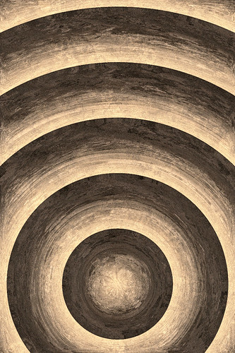 iPhone Wallpaper - Sepia Sphere by Patrick Hoesly