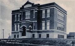 Sudbury - College St Public School C1919 v15 (363FroodRd / 573PineSt) Tags: sudbury sudburyon