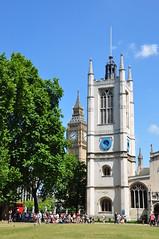 St Margaret's & Big Ben (Ryan Hadley) Tags: uk england london tower clock church westminsterabbey architecture europe cathedral unitedkingdom parliament bigben belltower clocktower worldheritagesite stmargarets ststephenstower westminsterpalace britishhousesofparliament
