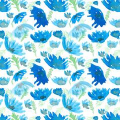 cornflower (kiraleska) Tags: pattern floral flowers cornflowers summer spring illustration print surfacepattern watercolor