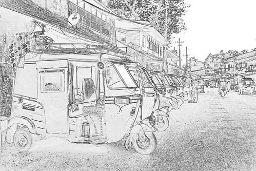India - Karnataka - Gokarna - Auto Rickshaws - 1c
