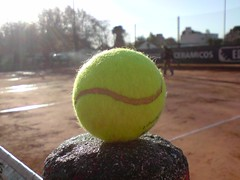 El deporte mas lindo del mundo (marianitoc73) Tags: cameraphone tenis telefono pelota