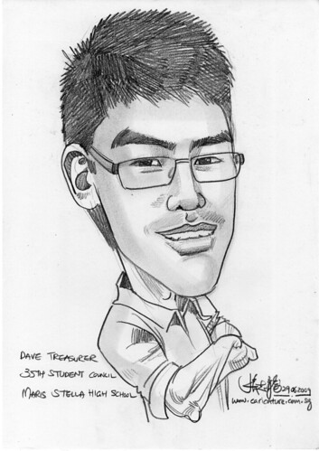 Caricature for Maris Stella High School -2