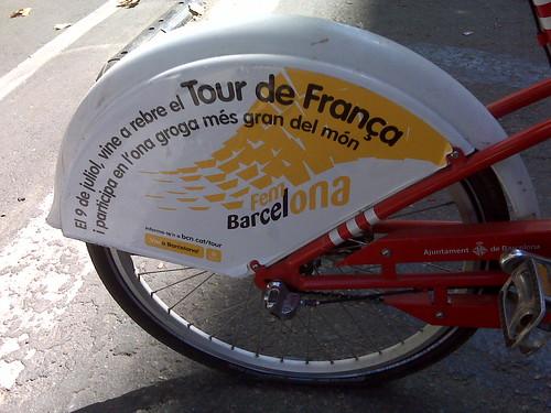 El Bicing utilizado como soporte publicitario.