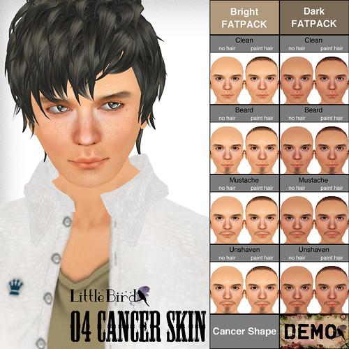 Cancer skin sample pop